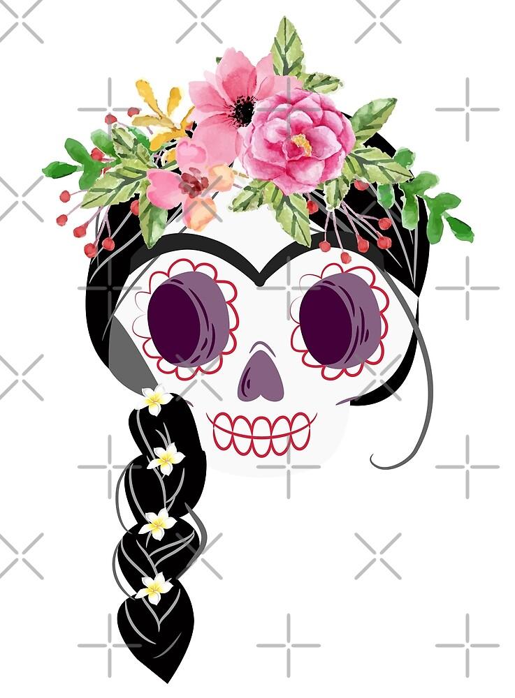 Frida inspired sugar skull by AnsaKhan