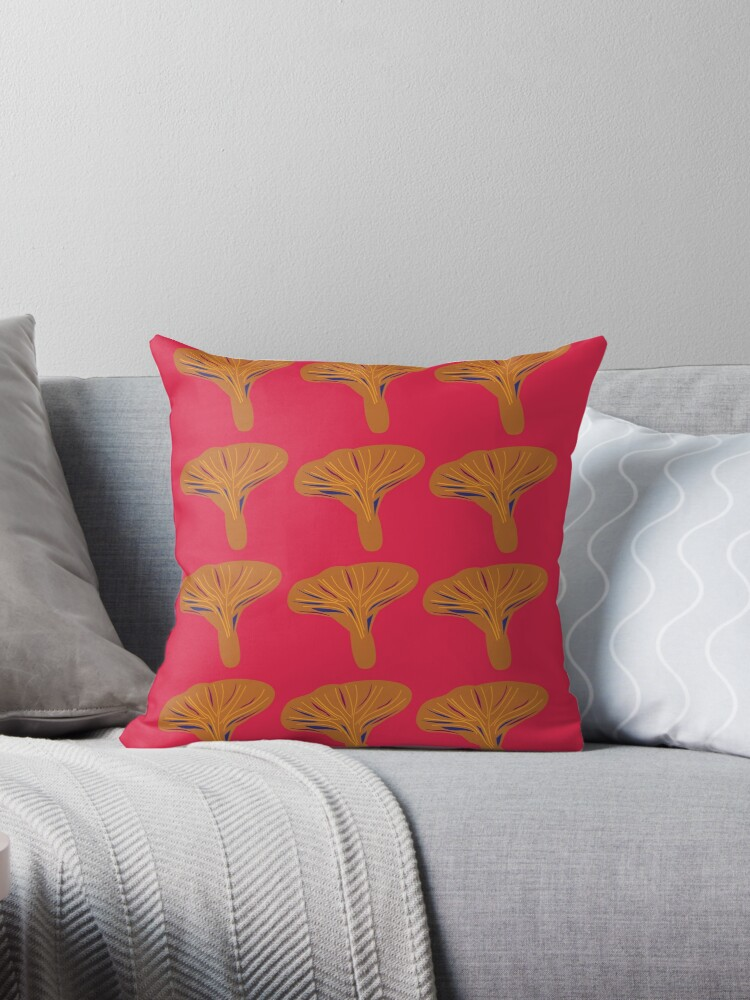Design baobabs gold  red ethno by Bee and Glow Illustrations Shop