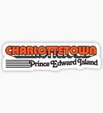 Charlottetown, Prince Edward Island | Retro Stripes Sticker