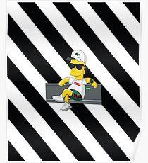 Bart Reelax White Bape Poster