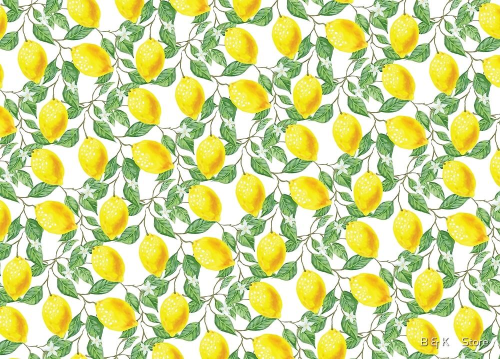 Lemons Pattern by B & K     Store