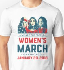 Chicago WOMEN'S MARCH 2018 (We Are The People) Unisex T-Shirt