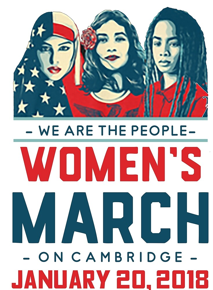 Cambridge WOMEN'S MARCH 2018 (We Are The People) by yusniah