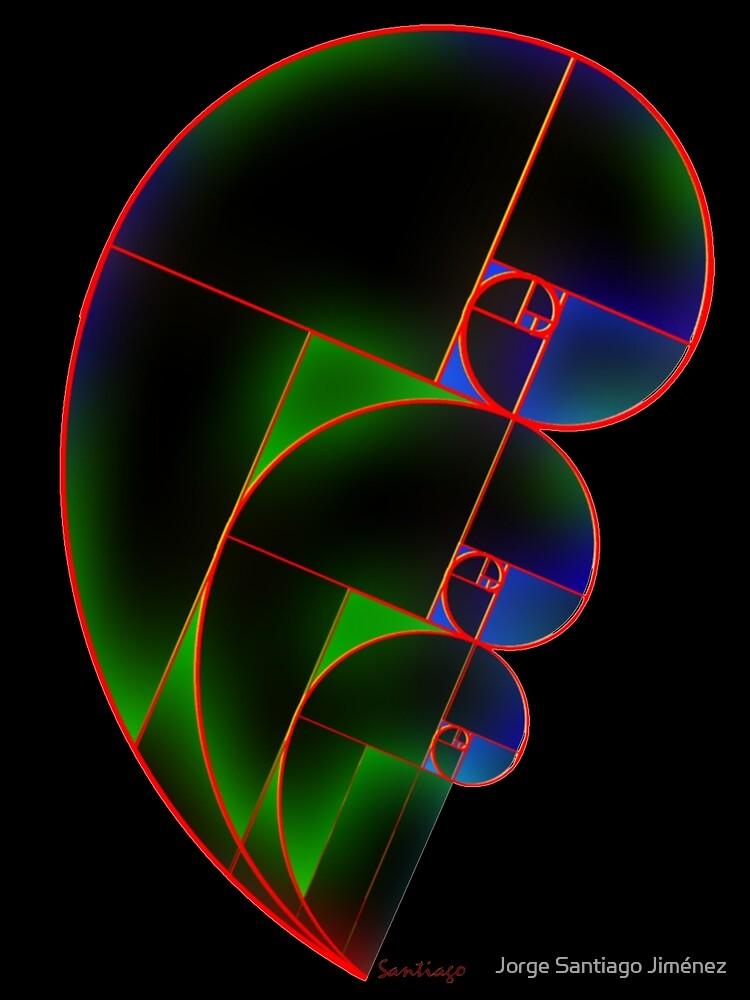 Fibonacci Golden Spiral  - Angled (Ver 1) by Jorge Santiago Jimenez