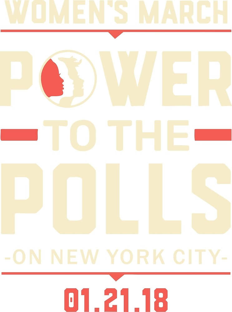 New York CIty WOMEN'S MARCH 2018 (power to the polls) by yusniah