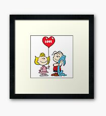 Sally and Linus love Framed Print