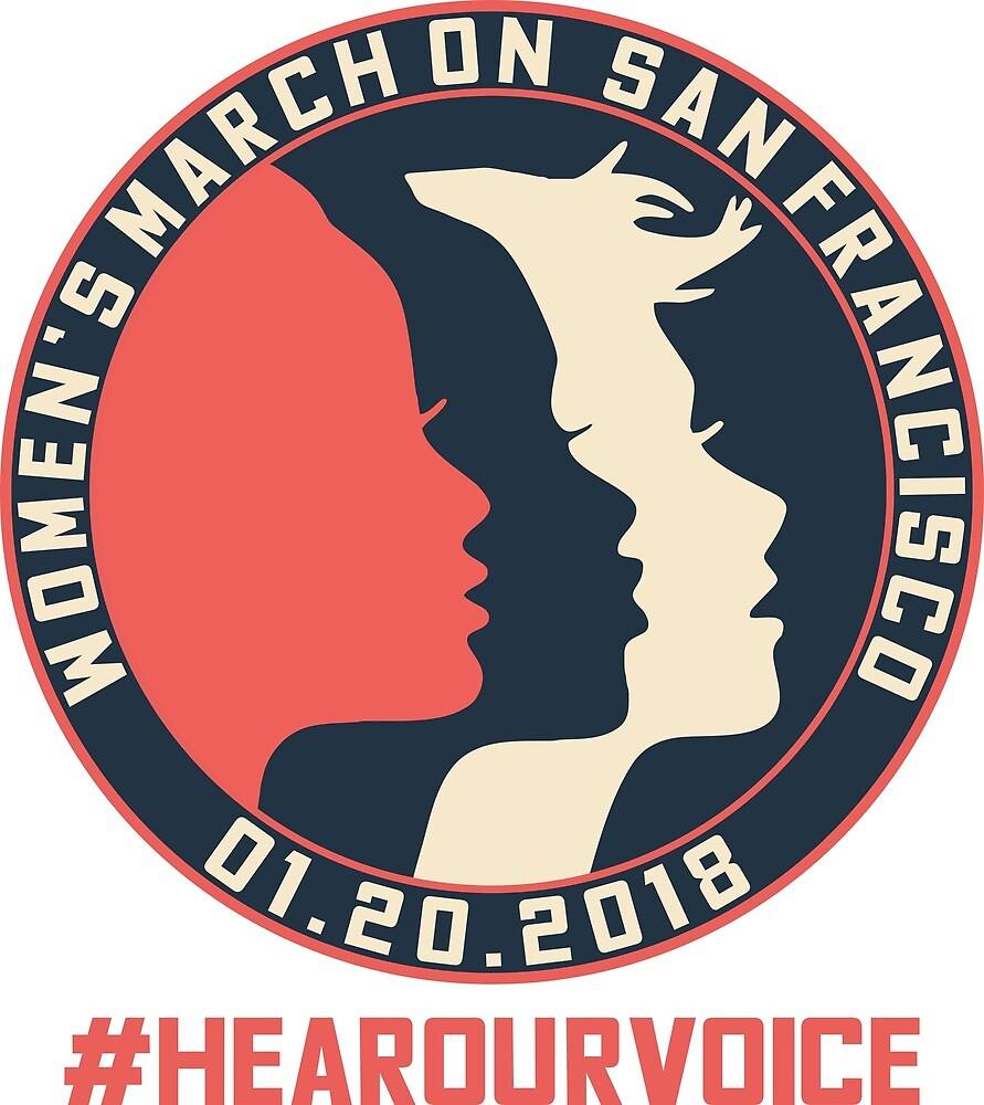 San Francisco Women's March 2018 #Hearourvoice  by yusniah