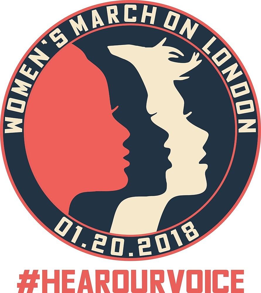 London Women's March 2018 #Hearourvoice  by yusniah