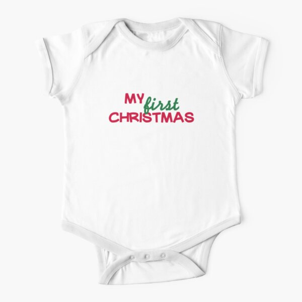 Baby Jersey Short Sleeve Tee My First Christmas Owl Cute Christmas Tee for Babies