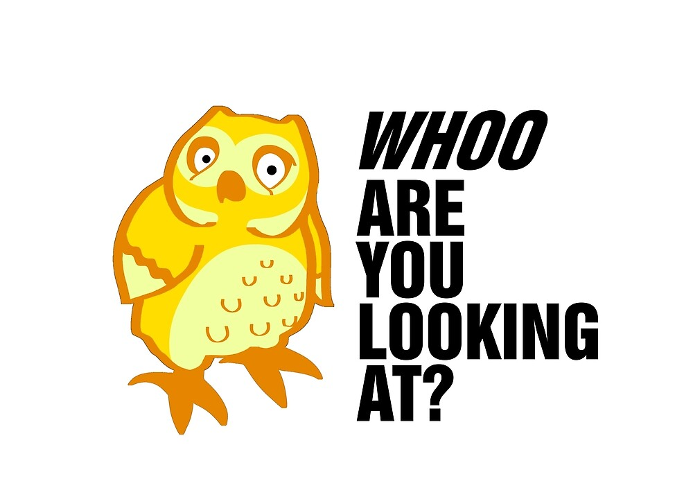 Owl - Who are you looking at (yellow) by Romane LE PEUC'H