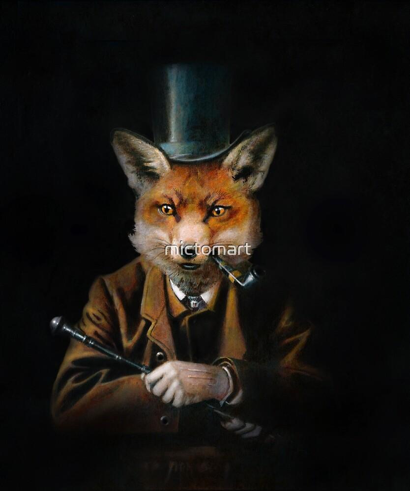 Dapper Victorian Fox by mictomart