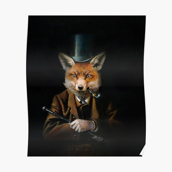Dapper Victorian Fox Poster