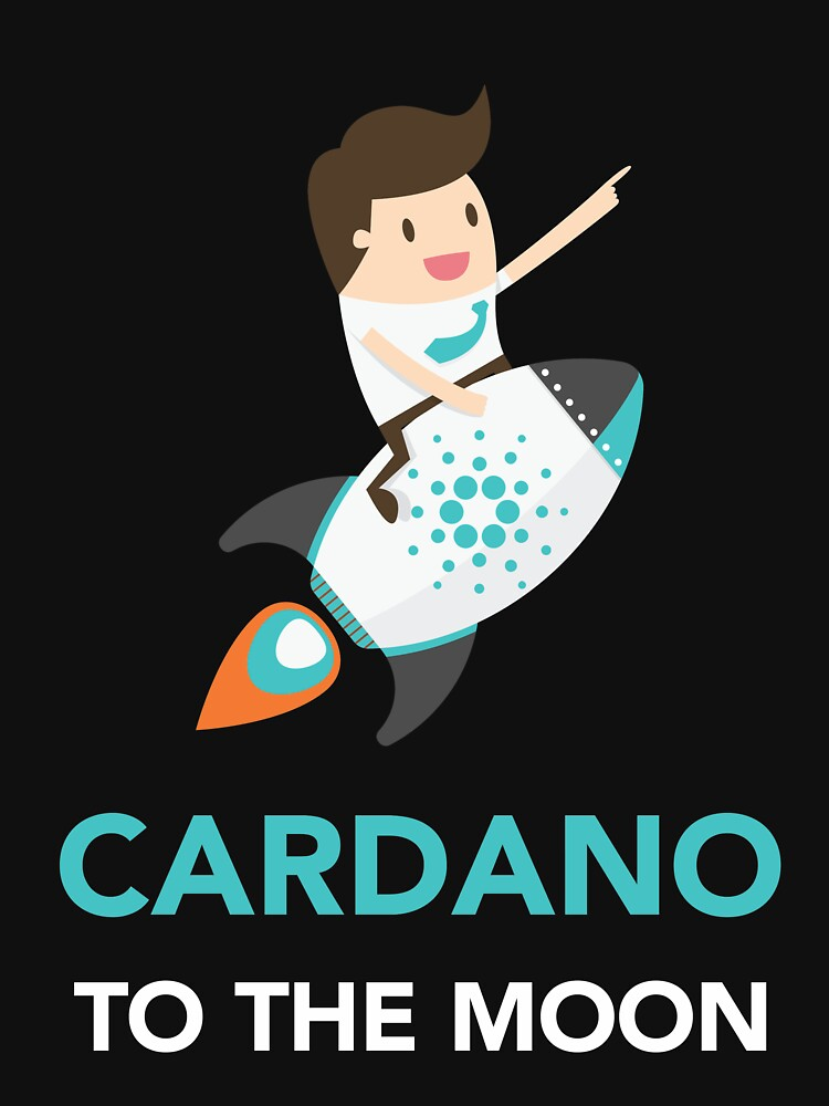 Cardano Coin To The Moon by vladocar