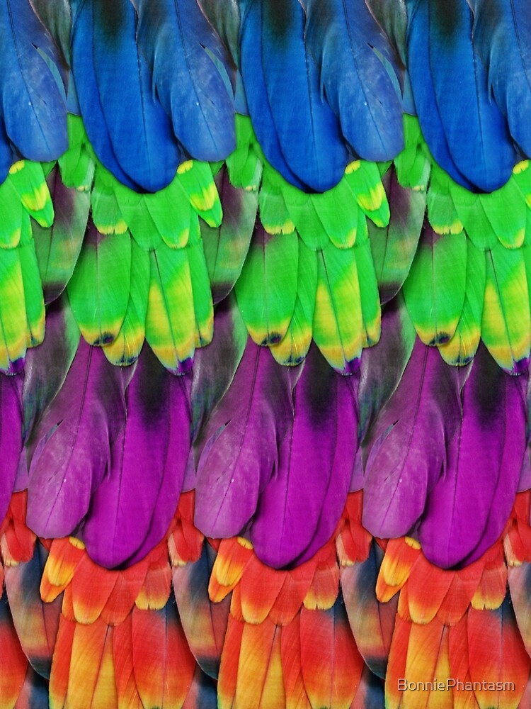 Rainbow Macaw Feathers by BonniePhantasm