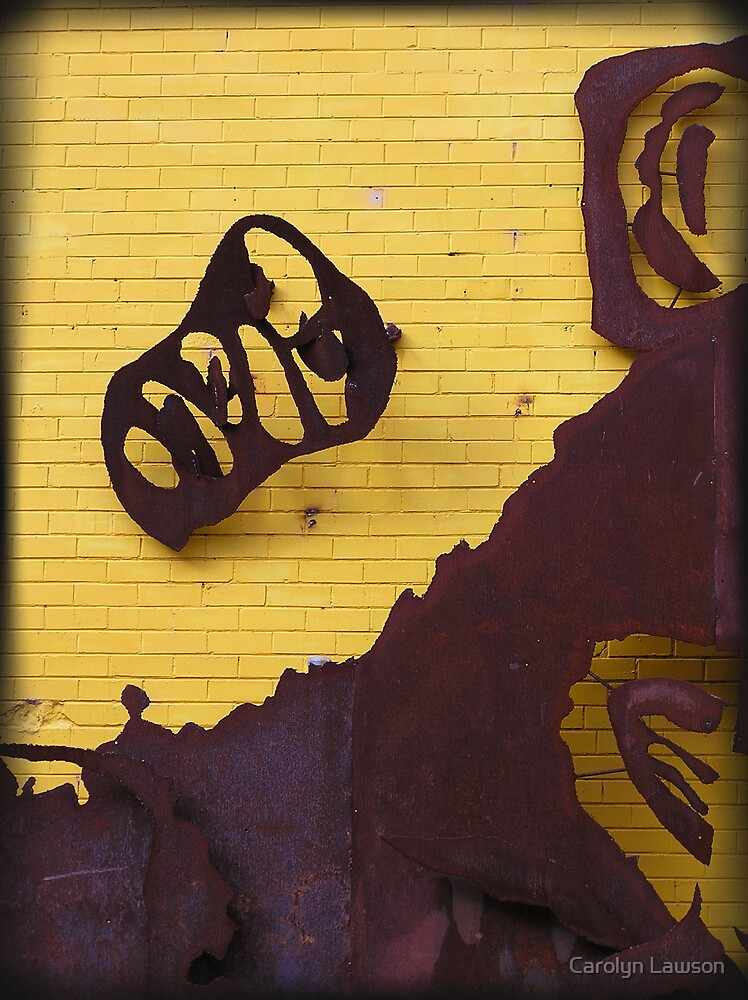 Crumbled Yellow by Carolyn Lawson