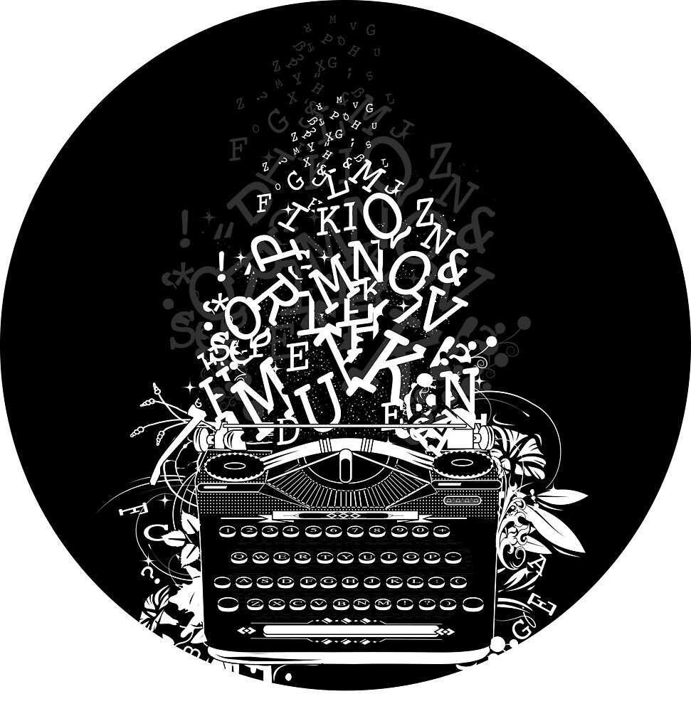 old typewriter with letters by Kisho