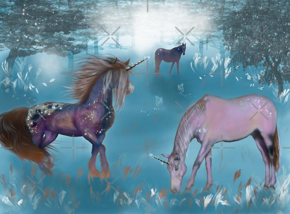 Galaxy unicorn by Meeechelle