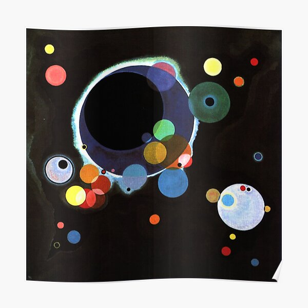 Kandinsky - Several Circles, famous abstract artwork Poster