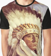 Native, Tribe, American, Indian Chief, Native American tribe, Indian, Head dress Graphic T-Shirt