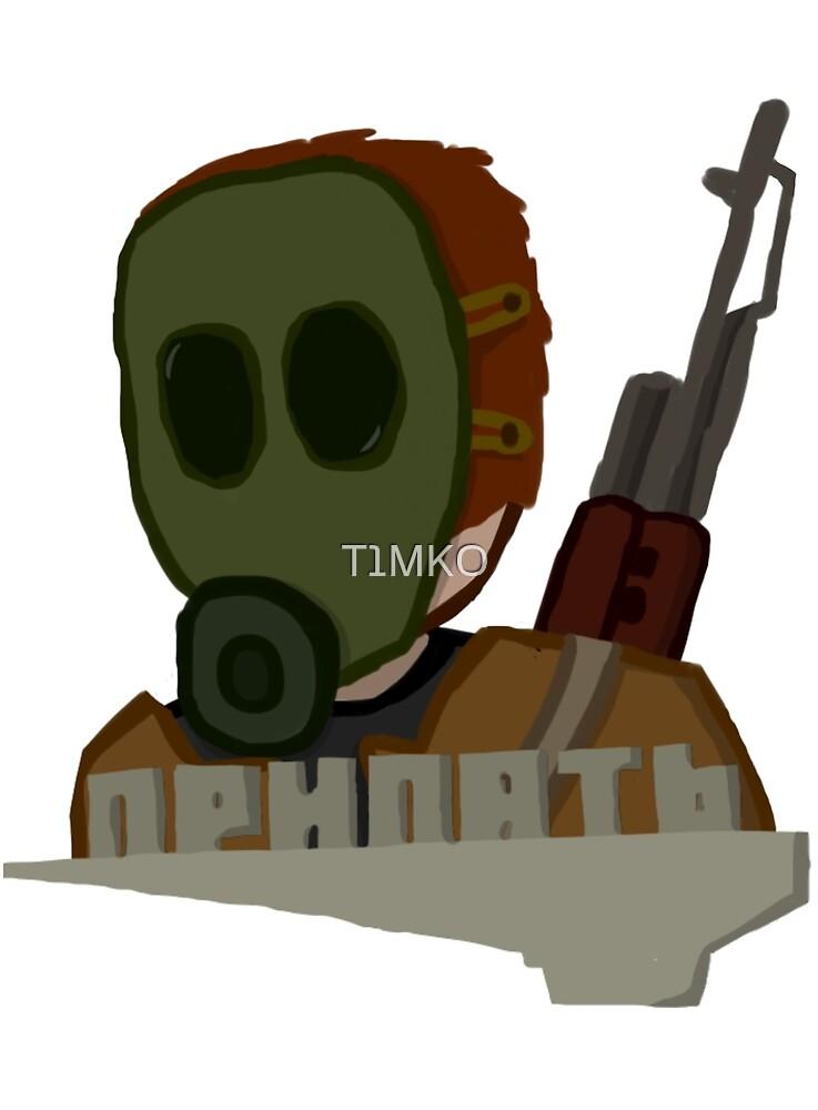 Stalker in Pripyat by T1MKO