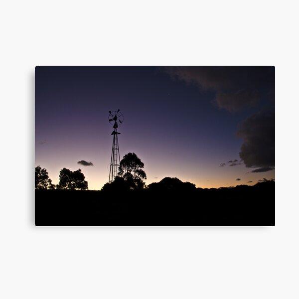 Broken windmill - after sunset Canvas Print