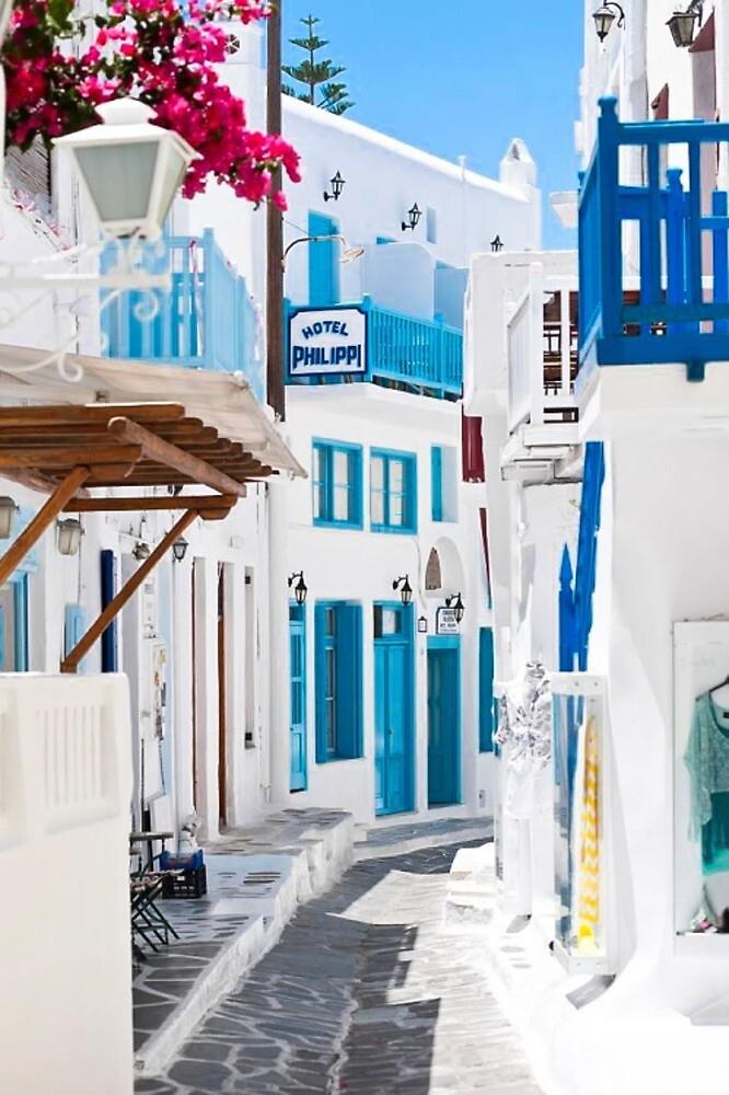 Iphone Case Greece Street by Charlotte Foekens