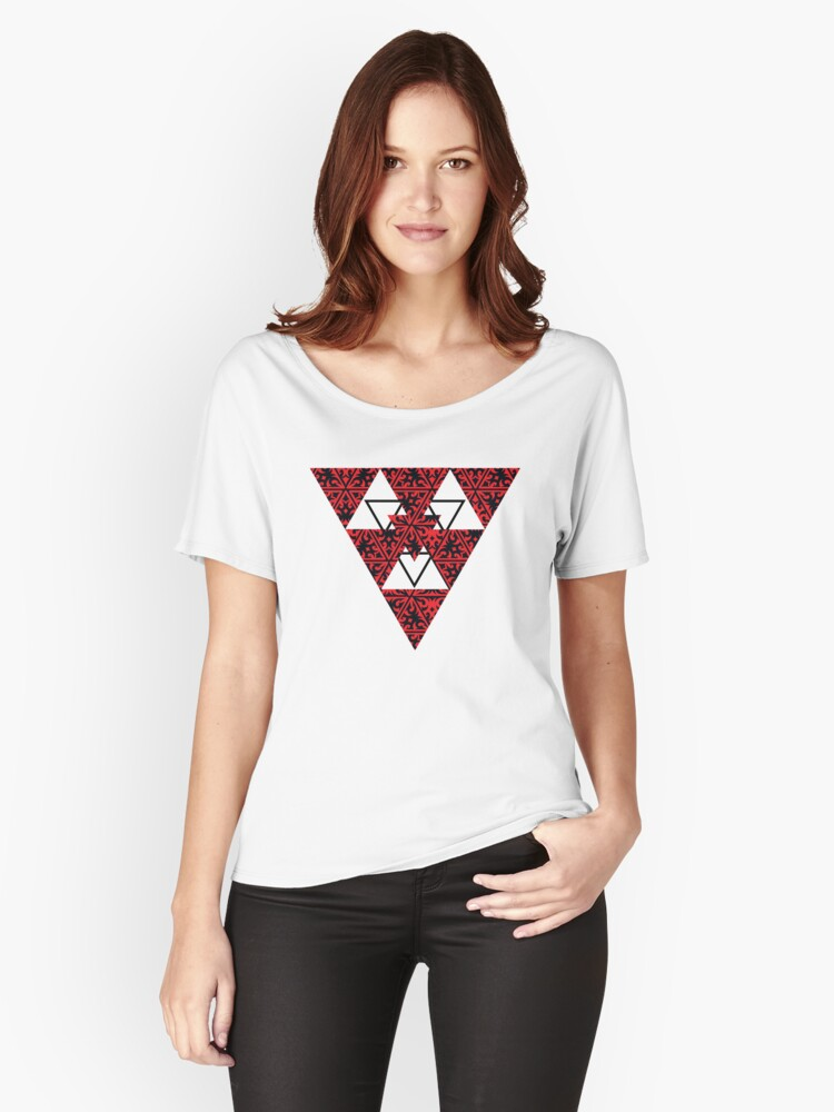 Geometry, Triangles Women's Relaxed Fit T-Shirt Front