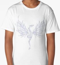 Patterned Flying Dragon Long T-Shirt