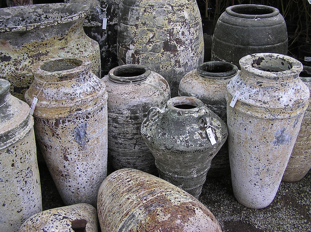 Pots by Carolyn Lawson