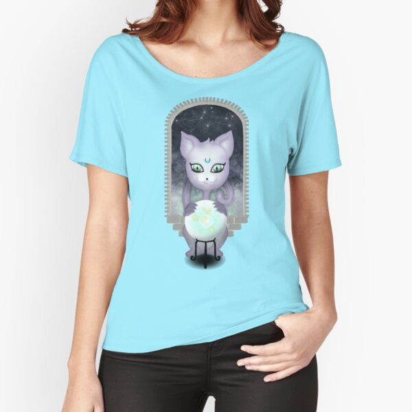 Mystic Miku | Crystal Ball & Zodiac | Teal Relaxed Fit T-Shirt