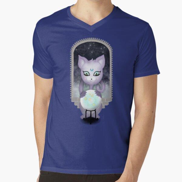 Mystic Miku | Crystal Ball & Zodiac | Teal V-Neck T-Shirt