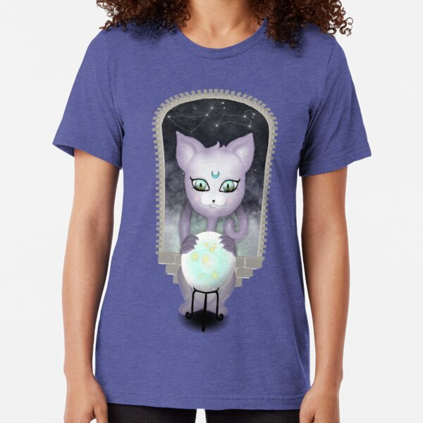 Mystic Miku | Crystal Ball & Zodiac | Teal Tri-blend T-Shirt