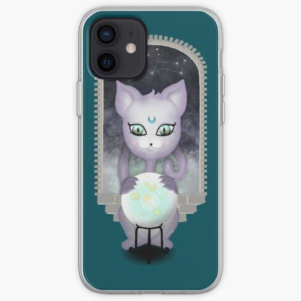 Mystic Miku | Crystal Ball & Zodiac | Teal iPhone Soft Case