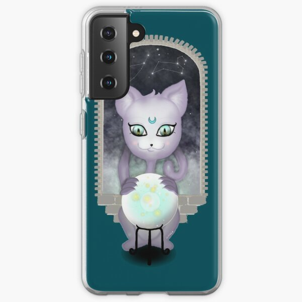 Mystic Miku   Crystal Ball & Zodiac   Teal Samsung Galaxy Soft Case