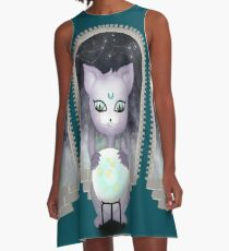 Mystic Miku | Crystal Ball & Zodiac | Teal A-Line Dress
