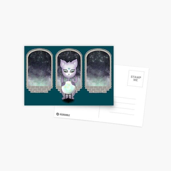 Mystic Miku | Crystal Ball & Zodiac | Teal Postcard