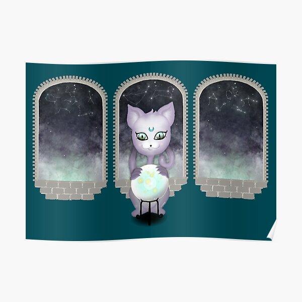 Mystic Miku   Crystal Ball & Zodiac   Teal Poster