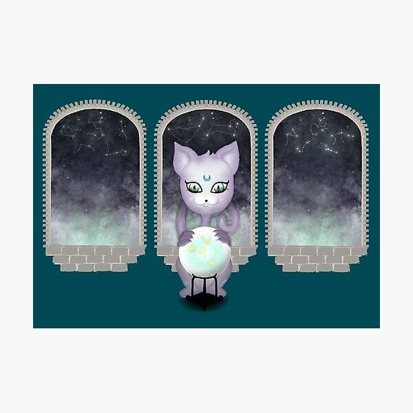 Mystic Miku | Crystal Ball & Zodiac | Teal Photographic Print