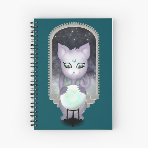 Mystic Miku   Crystal Ball & Zodiac   Teal Spiral Notebook