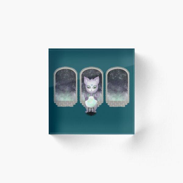 Mystic Miku | Crystal Ball & Zodiac | Teal Acrylic Block
