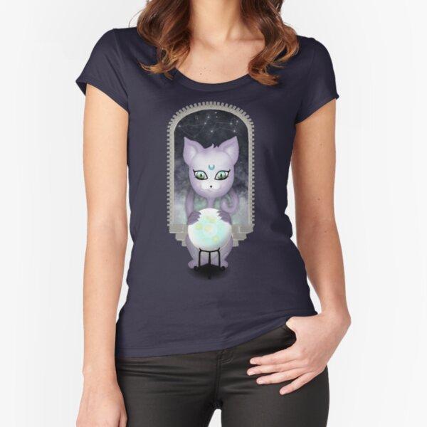Mystic Miku   Crystal Ball & Zodiac   Navy Fitted Scoop T-Shirt