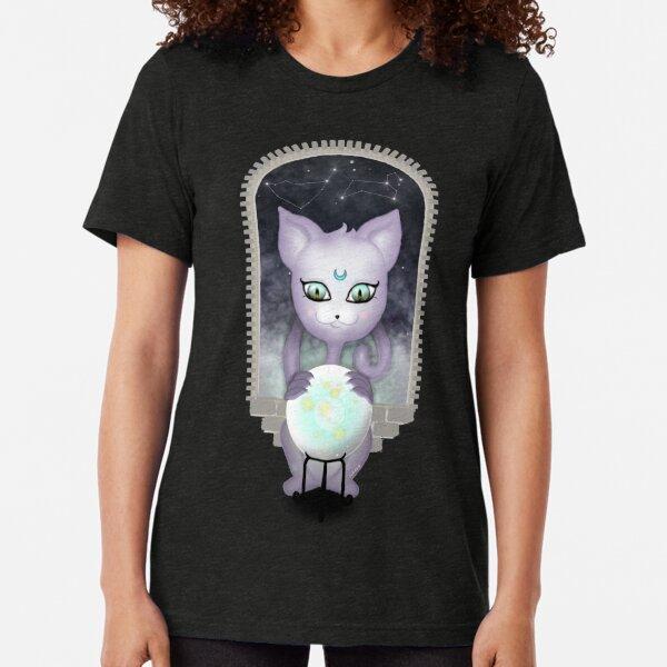Mystic Miku | Crystal Ball & Zodiac | Navy Tri-blend T-Shirt