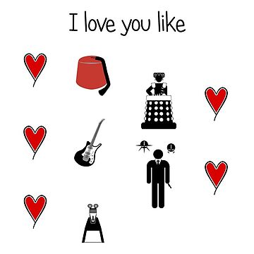 Dr Who inspired valentine's card by mime666