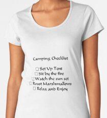 Camping Checklist Women's Premium T-Shirt