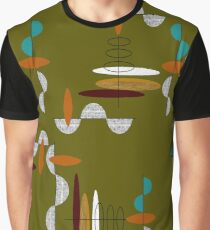 Suspended Ovals and Half Moons Graphic T-Shirt