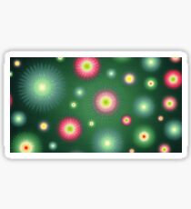 Abstract flowers over dark green graduated background. Spring and summer concept. Sticker