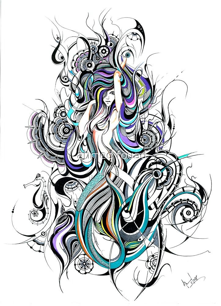 celestial mermaid  by ahmedfouad