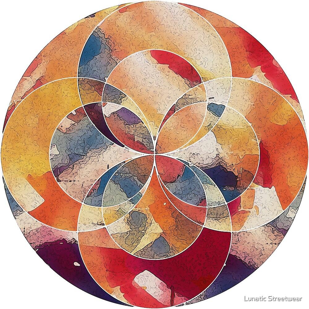 Geometric Abstract Circle by Lunatic Streetwear