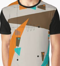 Mid-Century Circles and Rectangles Graphic T-Shirt
