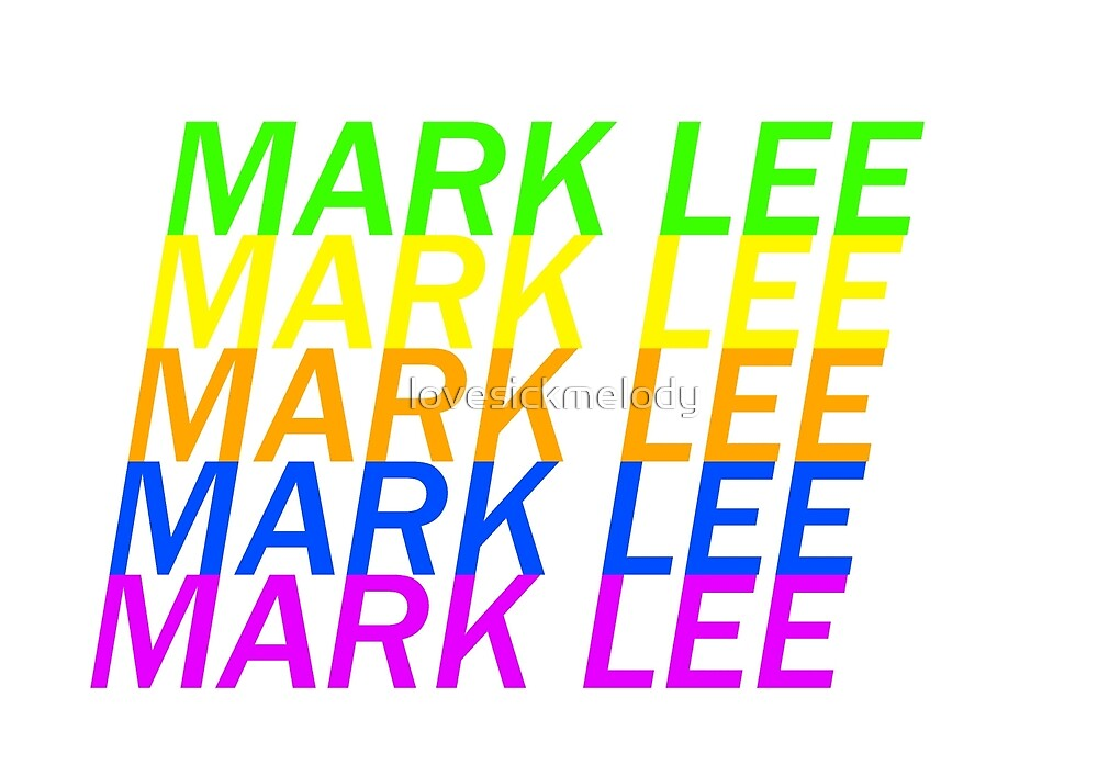 Mark Lee (nct) Colors by lovesickmelody